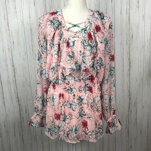 Lane Bryant NWT Pink Floral Blouse 16